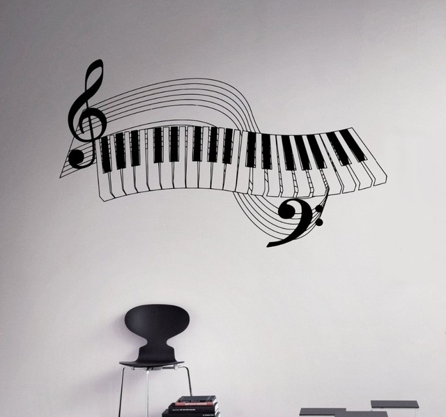 Buy new arrival piano keys wall decal for Vinilos decorativos instrumentos musicales