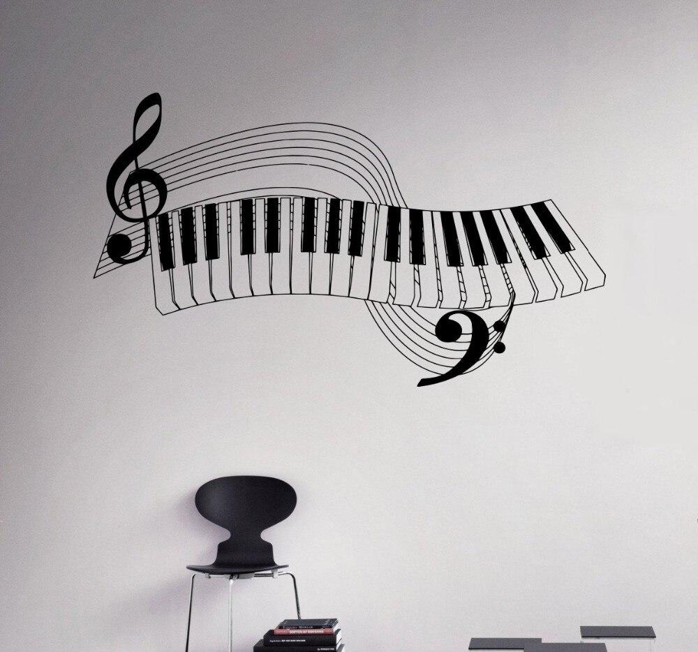 New arrival Piano Keys Wall Decal Musical Instrument Vinyl Sticker Music Home Wall Art Murals Housewares Design Wall Stiker