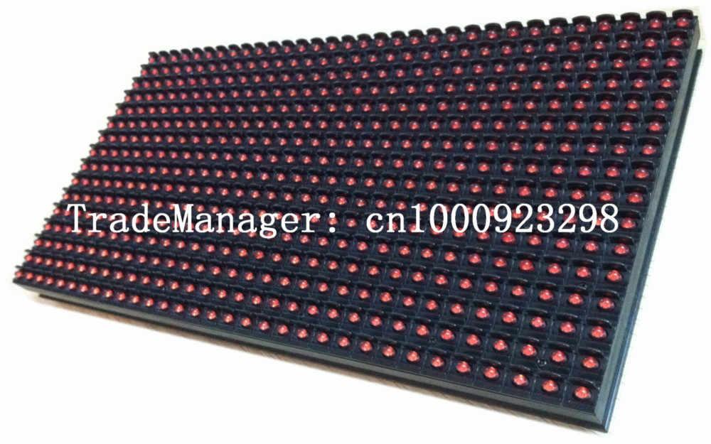 P10 في الهواء الطلق واحد اللون الأحمر وحدة عرض لوحة Led