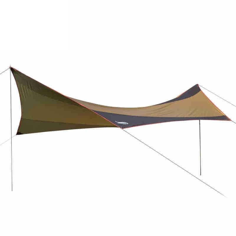 5-8 personne Camping Anti Uv ultra-léger abri de soleil extérieur auvent imperméable parasol plage pêche randonnée Pergola auvent AA60641