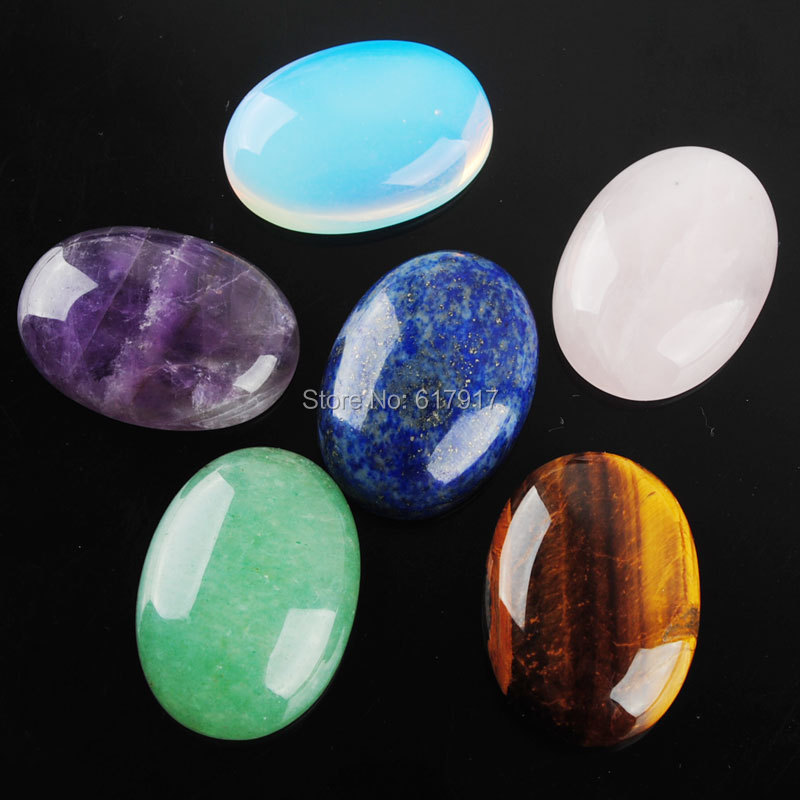 Free Shipping Natural Gem Stones Oval Cabochon CAB No Drill Hole 18x25mm Jewelry Making 5pcslot TBU305