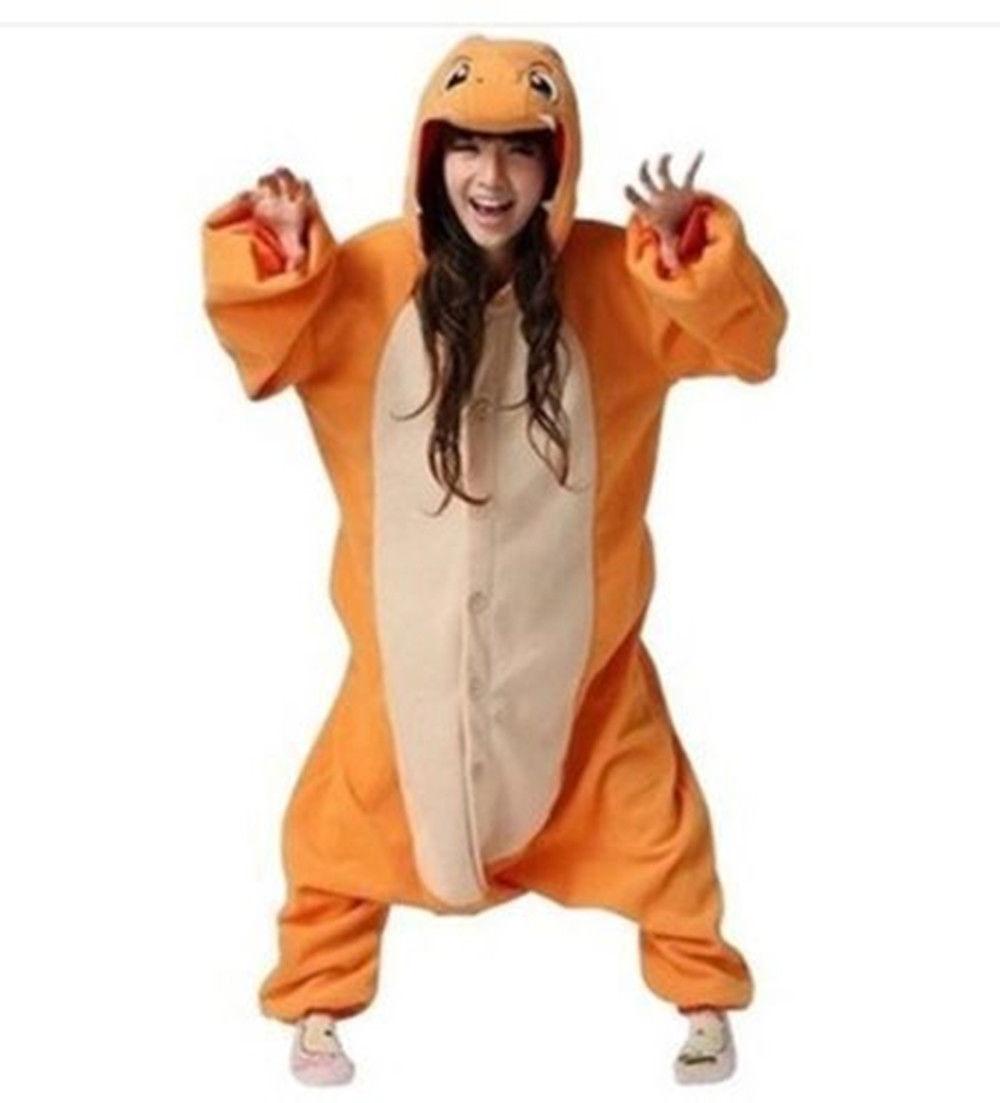 Charmander Onesie Adults Pajamas Sleepwear Cosplay Halloween Costumes Animal  Onsie for Women Men Winter Sleepsuit Unisex-in Pajama Sets from Underwear  ... 3218d535e