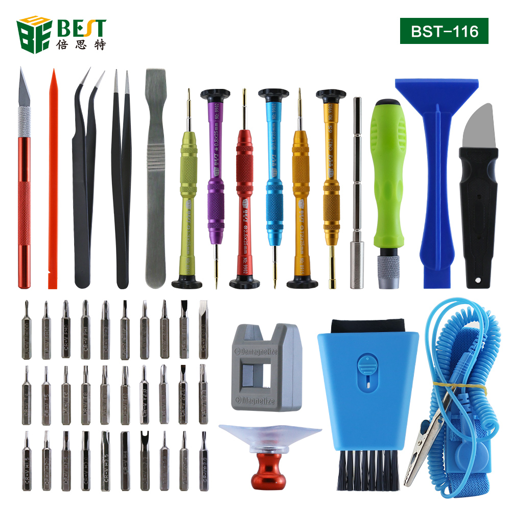 BST-116 Mobile Phone Repair Tools Kit Spudger Pry Opening Tool Screwdriver Set for iPhone iPad Samsung Cell Phone Hand Tools Set