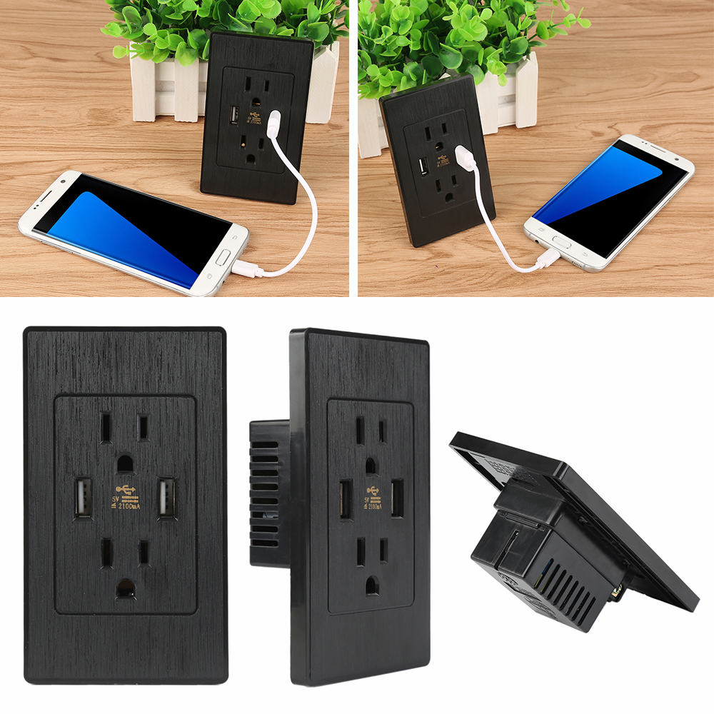 High Quality Usb Wall Socket Charger Adapter Dual Usb Port