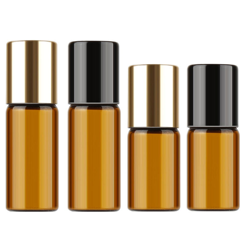 10pcs 2.5ml/3ml Mini Amber Glass Container Roll on Bottle For Essential Oil Perfume Fragrance Travel Portable Refillable Bottle himabm natural amethyst perfume bottle scent bottle essential oil bottle can volumetric flask birthday