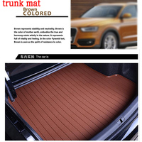 hot car trunk mat for Volkswagen Beetle CC Eos Golf Jetta Passat Tiguan Touareg sharan 3D carstyling leather carpet cargo liner