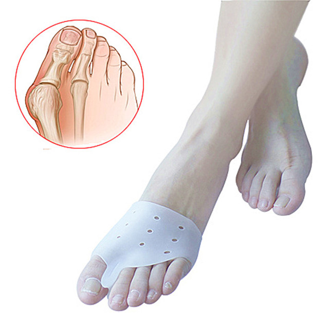 1pair=2pcs Hallux valgus Orthotics,Silicone Toes Separator The big Toe Bunion Corrector,Foot Daily Use Care Tool Orthopedic pad