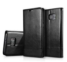 С вытяжным шнуром шить кожаный чехол-бумажник с отделением для карт с откидной крышкой для samsung Galaxy NOTE 9 8 S8 S9 плюс S6 S7 Edge Iphone X, 8, 7, 6 6s 5 Plus