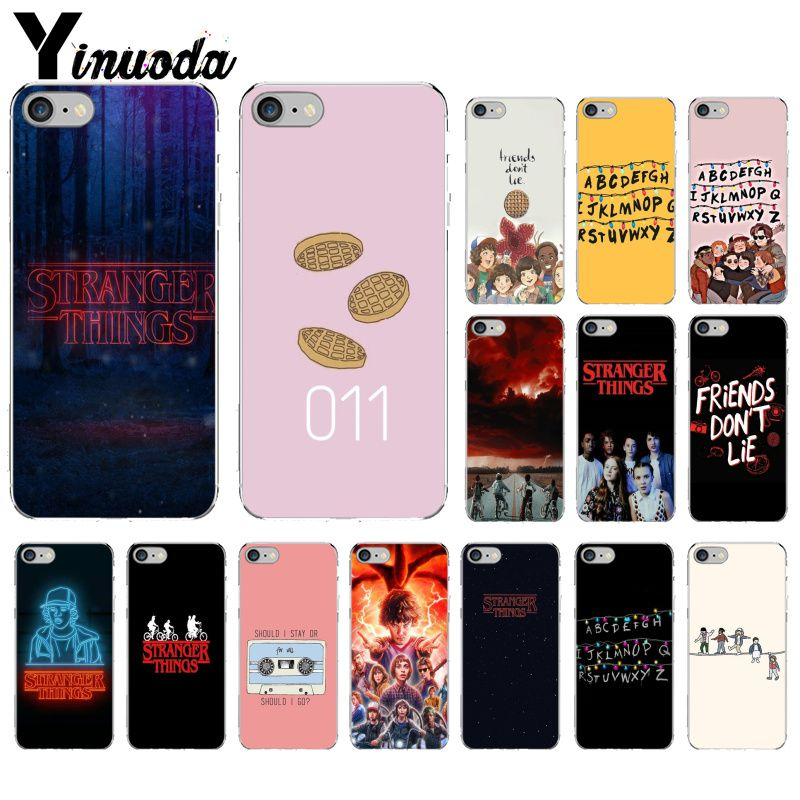 Yinuoda Stranger Things Colorful Cute Phone Accessories Case for Apple iPhone 8 7 6 6S Plus X XS MAX 5 5S SE XR Mobile Cases