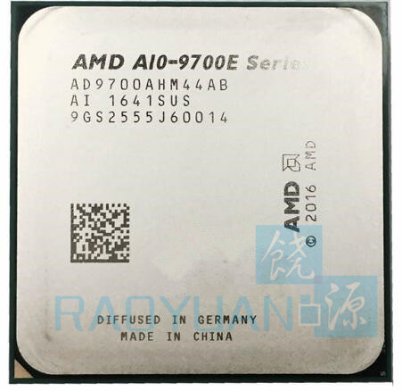 AMD A10 Series A10 9700E A10 9700E 3 0 GHz Quad Core CPU Processor AD9700AHM44AB Socket