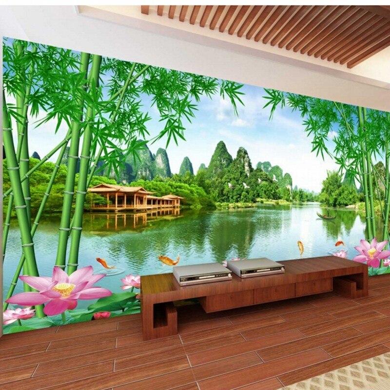 beibehang 3d photo wallpaper good scenery beautiful living. Black Bedroom Furniture Sets. Home Design Ideas