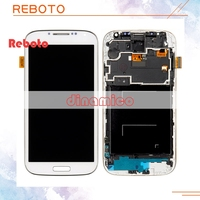 Reboto 1PCS I9505 LCD Touch Screen Digitizer Frame For Samsung S4 I9500 I337 I545 Lcd Display