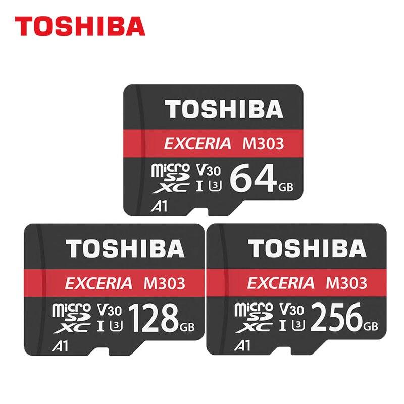 TOSHIBA Memory Card EXCERIA M303 MicroSDXC Card 64GB/128GB/256GB UHS-I HD 4K U3 V30 A1 TF Card Read 98MB/s Write 65MB/s tbu268 s toshiba