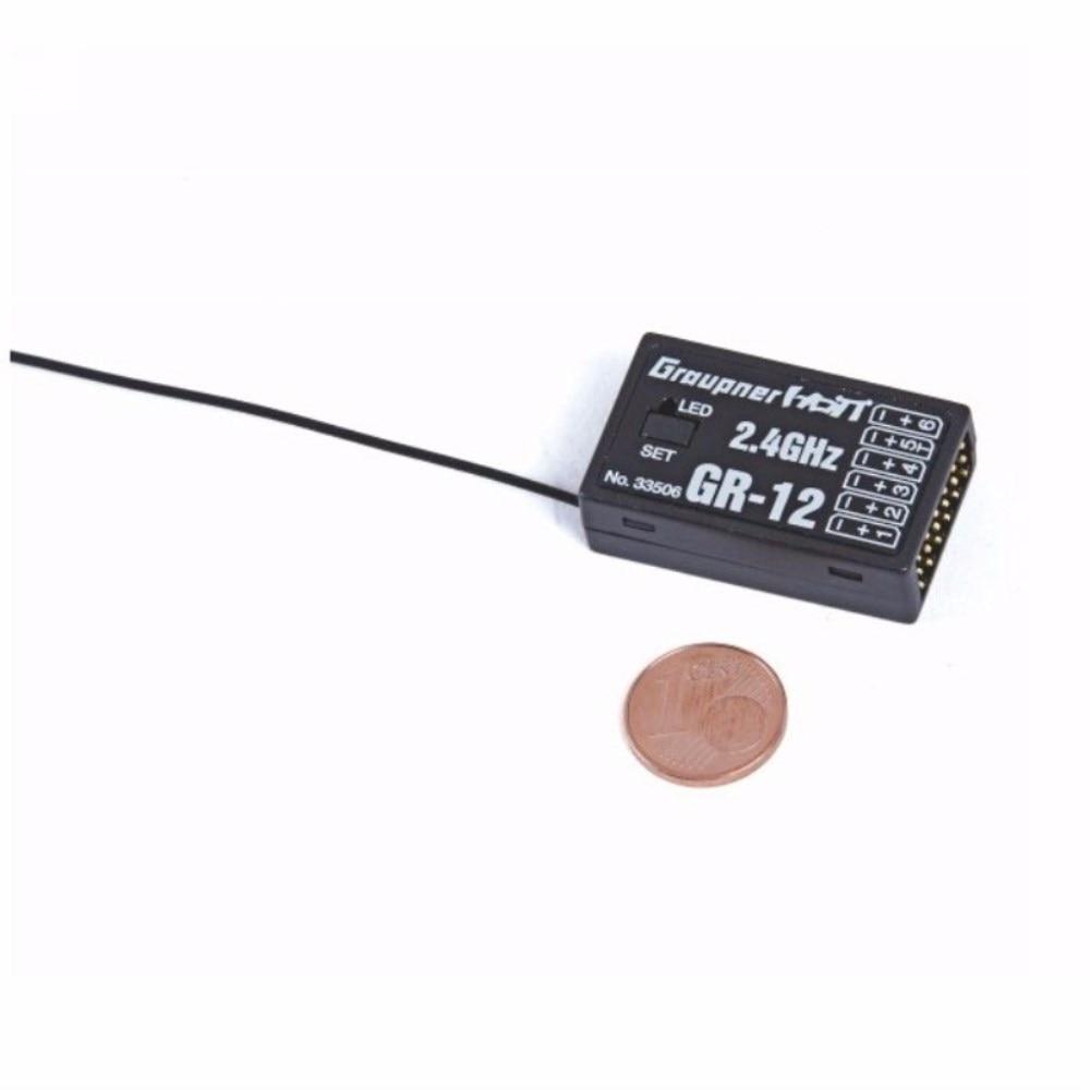 Graupner GR-12 6 Channel 2.4GHz HoTT Receiver 2.4GHz Receiver RC Transmitter Remote Control Parts