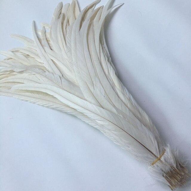 100 pces fora do branco 30-35 cm/12-14 Polegada penas de galo natural pena para decoração artesanato christma diy galo pluma acessórios
