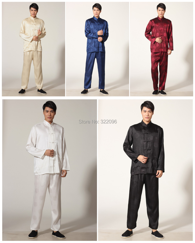 eef22b74b شنغهاي قصة الرجال الصينية الكونغ فو بدلة الصينية التقليدية الصينية تاي تشي  دعوى سترة + السراويل الكونغ فو موحدة 5 اللون m0049