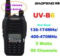 2015 Baofeng UV B6 Dual Band VHF UHF 5W 99 Channels FM PMR Portable Two way Radio Baofeng walkie talkie UV B6 two way radio