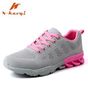 NKAVQI الأزياء البرية رياضية النساء شبكة تنفس النساء حذاء كاجوال مريحة زيادة منصة أحذية رياضية Zapatillas Muje