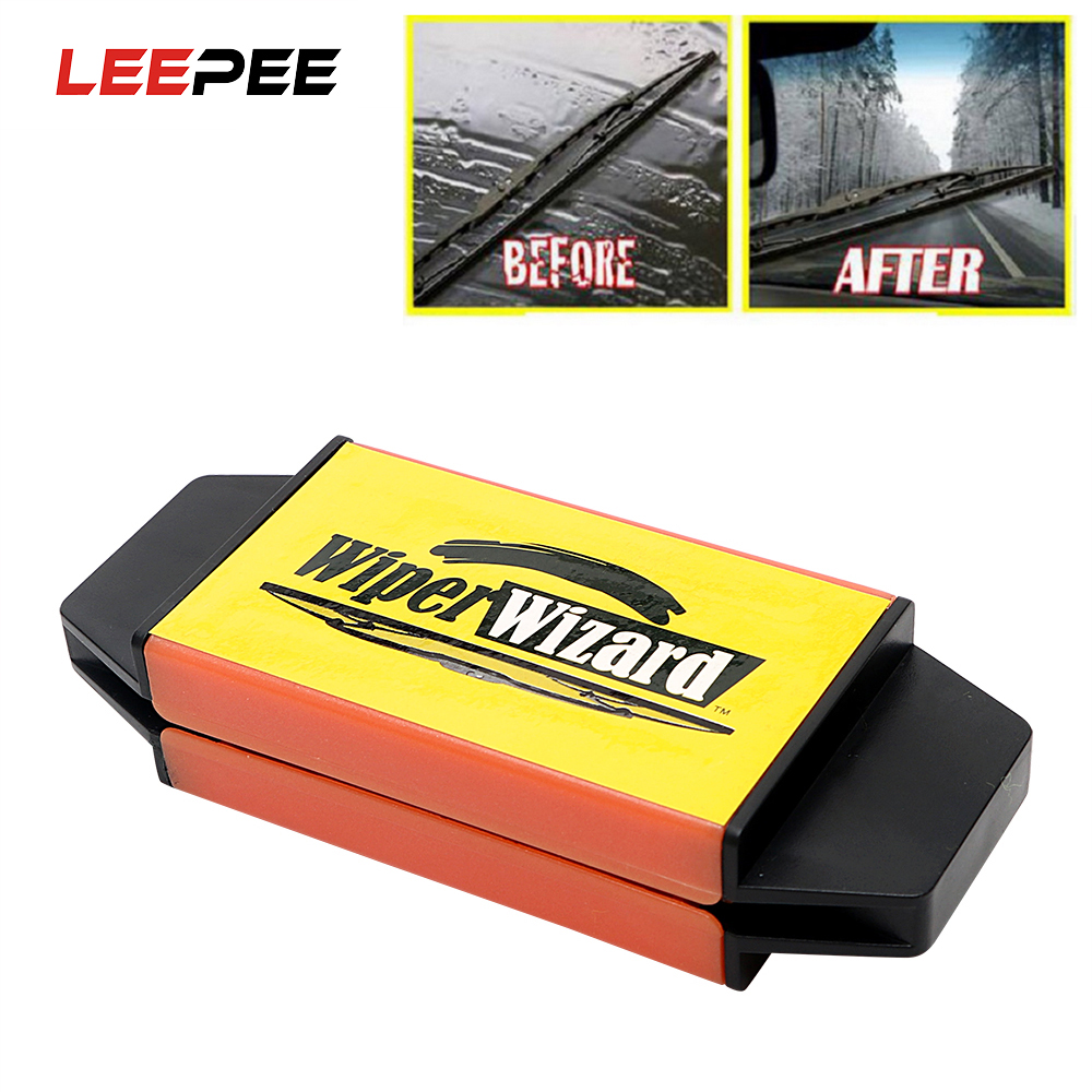 LEEPEE Car Windshield Wiper Wizard Blade Restorer with 5pcs Wizard Wipes Wiper Cleaning Brush Van Windscreen Cleaner Car-Styling circle