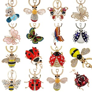 Ladies Ring Enamel Butterfly Butterfly Ring Fashion Charm Inlaid Zircon Ring Banquet Wedding Is Designed For Girlfriend(China)