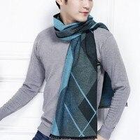 long scarves for men silk scarf men's clothes accessories shawl plaid strips fashion winter autumn warm neckerchief
