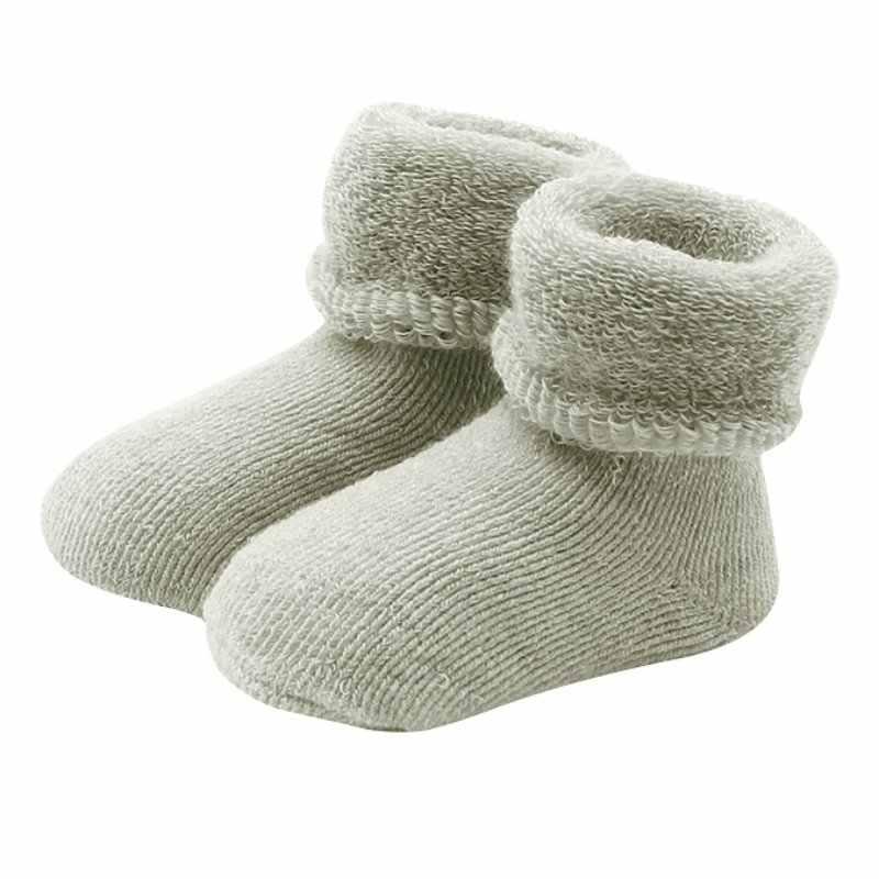 Las muchachas del bebé recién nacido bebé botas Invierno Caliente niño NIÑOS Calcetines de suave algodón botines cuna Zapatos