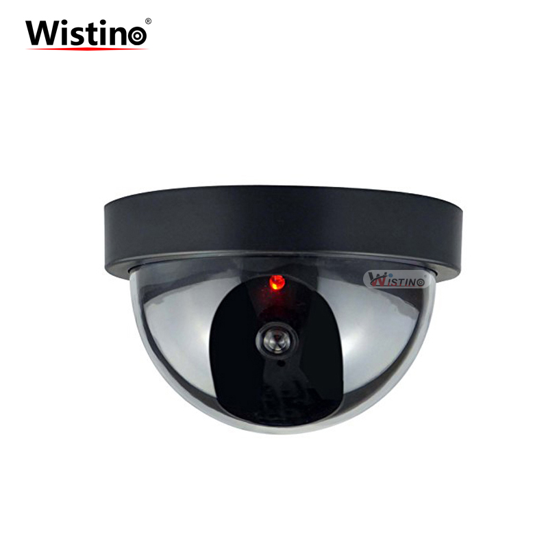 Wistino Fake Dummy Camera Dome Indoor Outdoor Simulated Camera Video Scare Home Security Surveillance IR Led Monitor Wireless