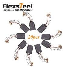 цена на Flexsteel Power Tool Part Accessories 20 Pieces Generic Electric Motor Carbon Brush 18MMx5MMx5MM