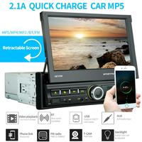 1din car stereo 7 Android cellphone link Radio Car MP5 Player Auto Multimeia Retractable Screen digital video rearview camera