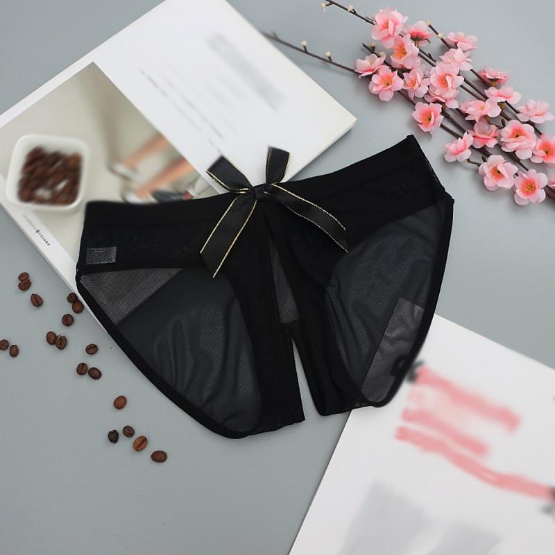 Open Sexy Erotic Lingerie Solid Underwear Low-Rise Women Seamless Transparent Female underwear Panties