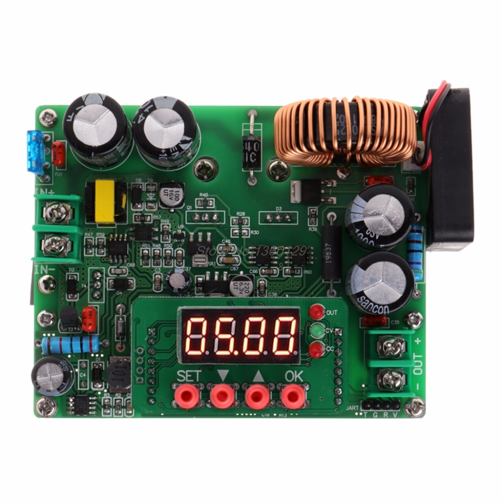 DC-DC Step Down Voltage Regulator 10V-75V 60v 24v to 0-60V 12v 5v 12A Digital Control Volt Reducer Board with LED Display 20pcs lot phd3055e 60v 12a