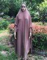 Atacado Muçulmano Maxi Vestido Das Senhoras Vestidos de Oração Abaya Hijab Khimar Jilbab Roupa Islâmica Vestuário Livre do Transporte Rápido