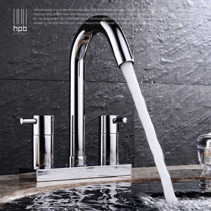 HPB Contemporary Centerset Bathroom Faucet Lavatory Vessel Sink Basin faucets Mixer Taps Cold Hot Water Tap torneiras HP3401 free shipping chrome brass bathroom faucet lavatory vessel sink basin faucet mixer taps cold hot water tap swivel spout 2231361