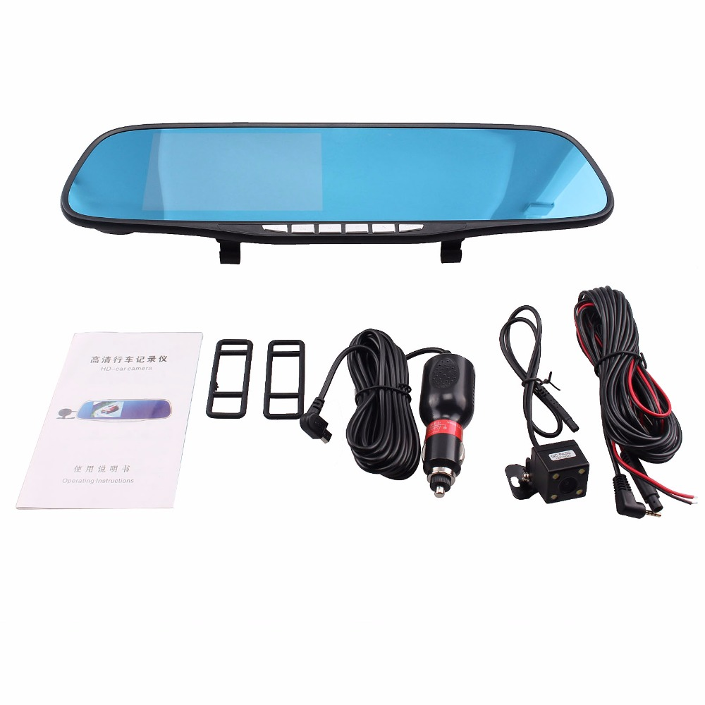 Auto Car Camera DVR  Navigation Rearview Mirror Video Recorder FHD 1080P Automobile DVR Mirror Dash cam Microphone Speaker 5 inch car camera dvr dual lens rearview mirror video recorder fhd 1080p automobile dvr mirror dash cam