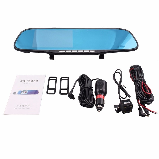 Auto Car Camera DVR  Navigation Rearview Mirror Video Recorder FHD 1080P Automobile DVR Mirror Dash cam Microphone Speaker