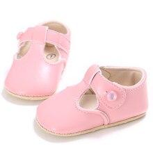 2216060fe Bebé bonito Sapatos Rosa Azul Preto Branco Vermelho Infantil menina  Primeiro Walkers T-Bar de couro PU Princesa Sapatos de Festa.