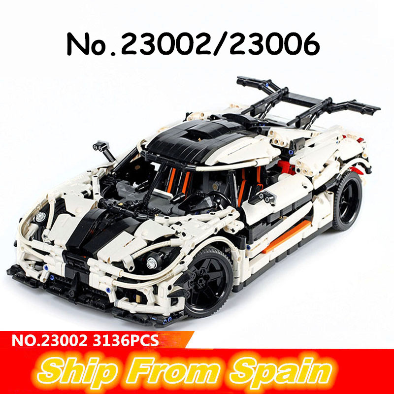 Ship from Spain 23002 23006 Changing Race sport Car building blocks Aventador technic MOC 4789 MOC