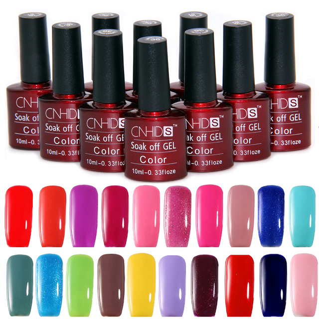 CNHIDS 10pcs/Lot Nail Gel Polish UV&LED Shining Colorful 132 Colors ...
