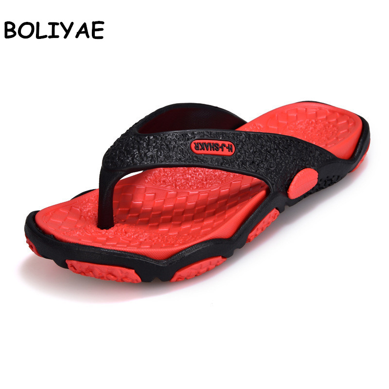 Men's Shoes Flip-Flops Male Slippers Outdoor Summer Plus-Size Fashion for 39-45 Soft