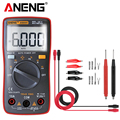 AN8001  capacitor tester Digital Multimeter profesional 6000 counts esr meter richmeters voltage current clamp be true leads Multimeters     -