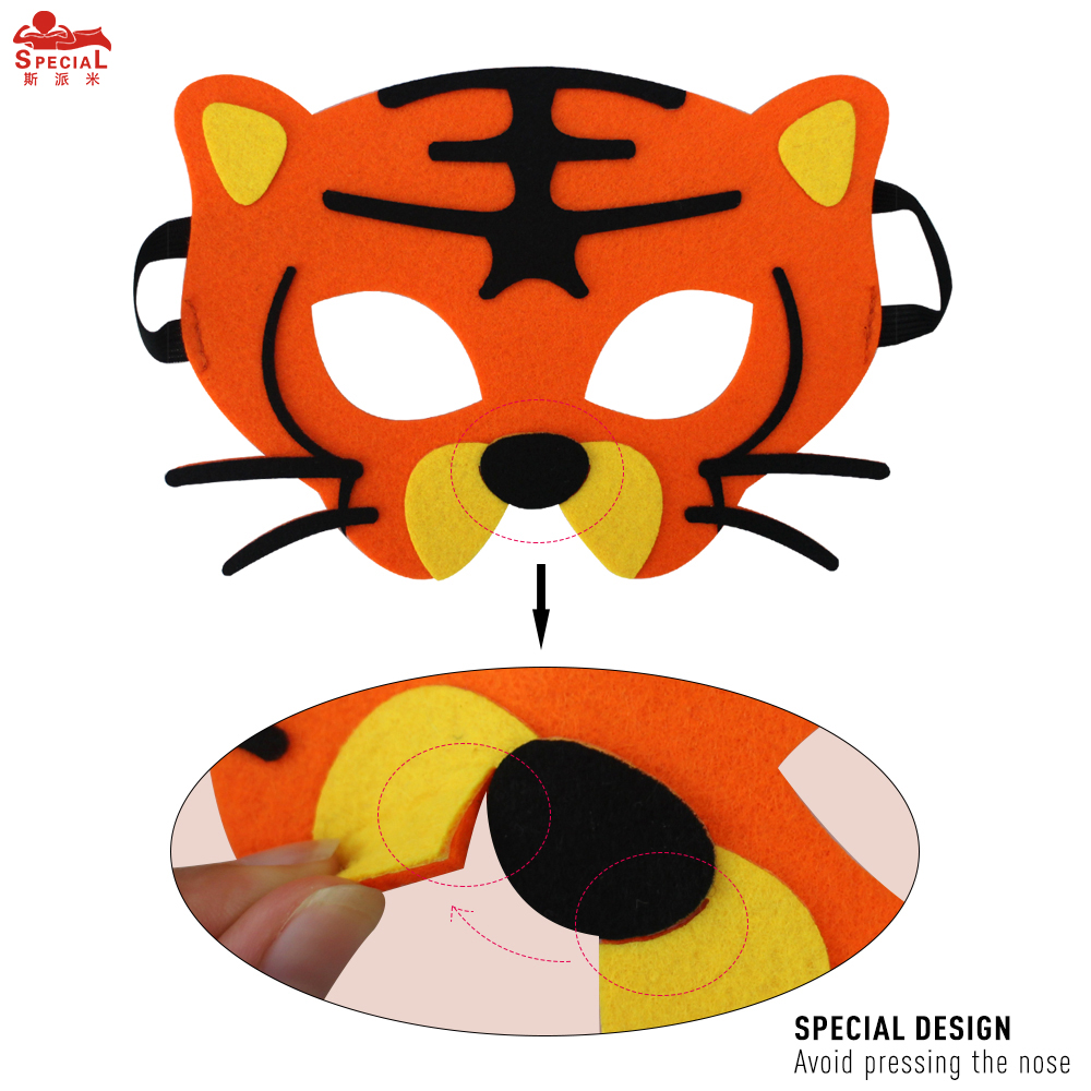 SPECIAL Thick Felt Animal Mask For Kids Monkey Costume Character - Kostumer - Foto 6
