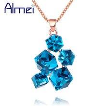Ожерелье чокер almei с синей радугой Геометрические Квадратные