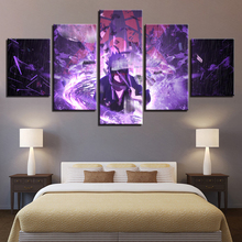 Art Posters Prints Painting Wall Framework 5 Panel Cartoon Naruto Modular Canvas Character Pictures For Living Room Home Decor