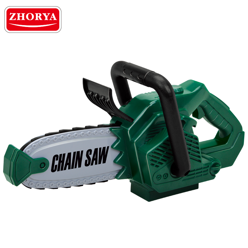 Zhorya Pretend Play Rotating Chainsaw with Sound Battery Operated Simulation Tool Early Educational Toy for Children Boys Gifts