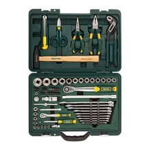 Набор ручного инструмента KRAFTOOL 27977-H70 (59 предметов, торцовые головки, трещотка, набор бит, молоток, кейс)