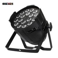 Liga de alumínio LED Par 18x15W 5in1 RGBWA LED Par Pode LED Par Holofotes Projetor DJ Wash Lighting iluminação de palco|stage light|led par 18x15w|wash light -