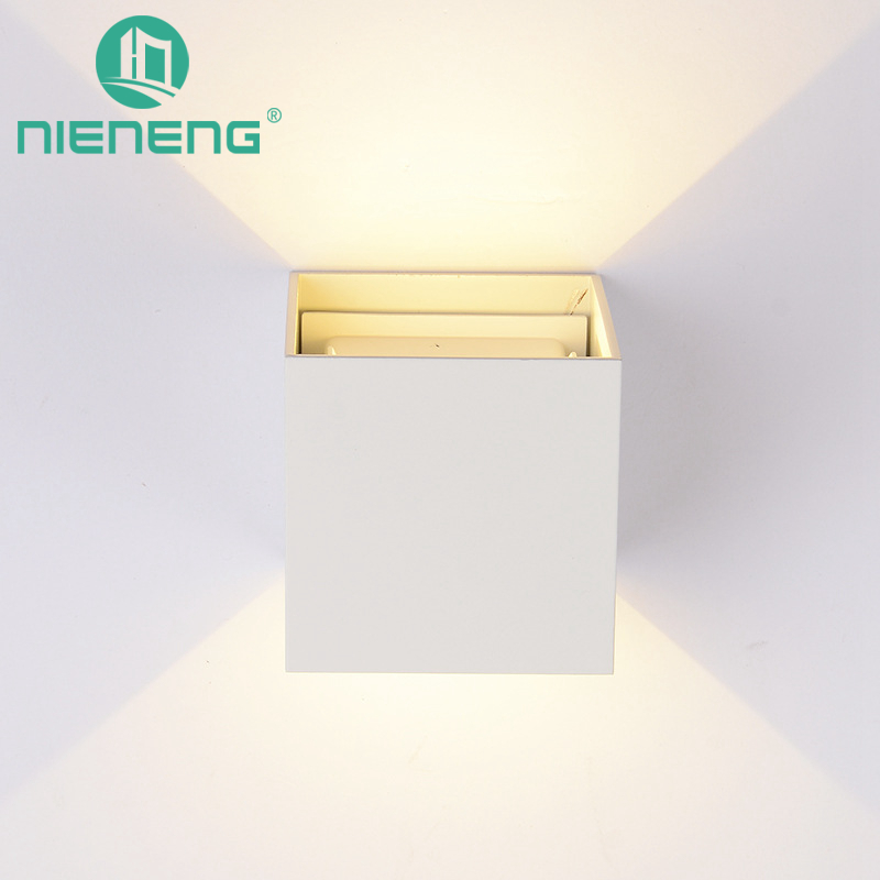 Nieneng LED Wall Lamps Wall Mounted Sconces Modern Lighting Wall Sconce Lustre Aluminum Painted White Black Wall Light ICD90105 free shipping crystal wall lamp gold modern bed lighting fashion wall mounted lamps e14 wall sconces