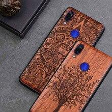 Neue Für Xiaomi Redmi Hinweis 7 Fall Schlanke Holz Zurück Abdeckung TPU Stoßstange Fall Auf Xiaomi Redmi Hinweis 7 Xiomi redmi note7 pro Telefon Fällen
