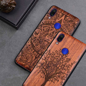 Image 1 - Neue Für Xiaomi Redmi Hinweis 7 Fall Schlanke Holz Zurück Abdeckung TPU Stoßstange Fall Auf Xiaomi Redmi Hinweis 7 Xiomi redmi note7 pro Telefon Fällen