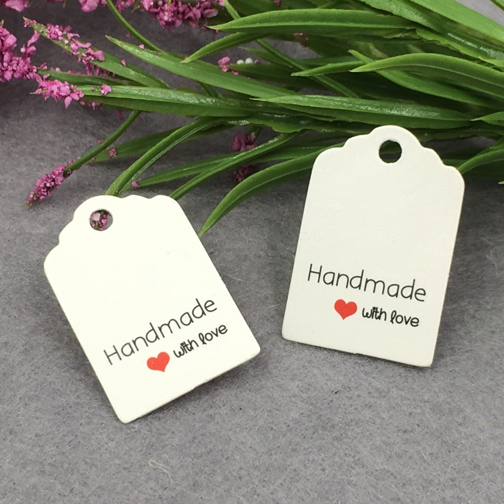 Good Value 400pcslot 3x2cm White Paper Tag Gift Tag Wedding Gift